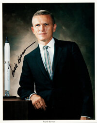 Frank Borman Signed Business Suit Photo