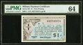 Series 461 $1 First Printing PMG Choice Uncirculated 64