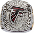 Football Collectibles:Others, 2016 Atlanta Falcons NFC Championship Ring Presented to Tight End D.J. Tialavea....