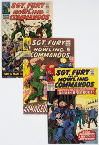 Sgt. Fury and His Howling Commandos Group of 38 (Marvel, 1966-70) Condition: Average VF+.... (Total: 38 Comic Books)