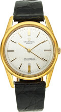 Timepieces:Wristwatch, Universal Geneve, 18k Gold Chronometer 28, Micro-rotor Cal...