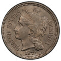 Three Cent Nickels: , 1872 3CN MS64 PCGS. PCGS Population: (71/46). NGC Census: (47/29). CDN: $450 Whsle. Bid for NGC/PCGS MS64. Mintage 861,000....