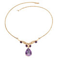 Estate Jewelry:Necklaces, Amethyst, Diamond, Gold Necklace . ...