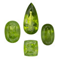 Estate Jewelry:Unmounted Gemstones, Unmounted Peridot. ... (Total: 4 Items)