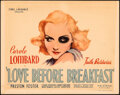 """Movie Posters:Comedy, Love Before Breakfast (Universal, 1936). Fine. Title Lobby Card (11"""" X 14"""").. ..."""