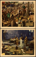 """Movie Posters:Swashbuckler, The Adventures of Robin Hood (Warner Bros., 1938). Very Fine-. Linen Finish Lobby Cards (2) (11"""" X 14"""").. ... (Total: 2 Items)"""