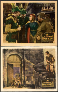 """The Adventures of Robin Hood (Warner Bros., 1938). Overall: Fine/Very Fine. Linen Finish Lobby Cards (2) (11"""" X 14&..."""