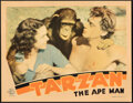 Movie Posters:Adventure, Tarzan the Ape Man (MGM, 1932). Fine- on Cardstock.