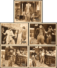 """His Favorite Pastime (W. H. Productions, R-Late 1910s). Very Fine. Lobby Cards (5) (8"""" X 10""""). ... (Total: 5 I..."""