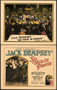 """So This is Paris (Universal, 1924). Very Fine+. Title Lobby Card & Lobby Card (11"""" X 14""""). ... (Total: 2 I..."""