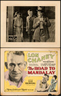 "Movie Posters:Horror, The Road To Mandalay & Other Lot (MGM, 1926). Very Fine-. Title Lobby Card & Lobby Card (11"" X 14"").. ... (Total: 2 Items)"