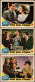 """Movie Posters:Comedy, The Big Store (MGM, 1941). Fine/Very Fine. Lobby Cards (3) (11"""" X 14""""). Comedy.. ... (Total: 3 Items)"""