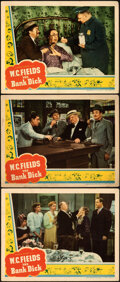 """Movie Posters:Comedy, The Bank Dick (Universal, 1940). Fine+. Lobby Cards (3) (11"""" X 14"""").. ... (Total: 3 Items)"""