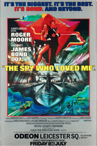 """The Spy Who Loved Me (United Artists, 1977). Rolled, Very Fine+. British Charity Premiere Poster (40"""" X 60"""") B..."""