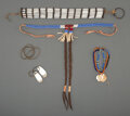 American Indian Art:Beadwork and Quillwork, Five Plains / Plateau Jewelry Items... (Total: 5 )
