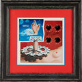 Music Memorabilia:Autographs and Signed Items, Jerry Garcia Signed Garcia Vinyl LP Album Sleeve Matted and Framed....