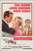 "Movie Posters:Sports, Winning (Universal, 1969). Folded, Very Fine-. One Sheet (27"" X 41"") Howard Terpning Artwork. Sports.. ..."