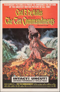 "Movie Posters:Drama, The Ten Commandments (Paramount, R-1966). Folded, Very Fine-. One Sheet (27"" X 41"") Frank McCarthy Artwork. Drama.. ..."