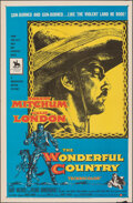 """Movie Posters:Western, The Wonderful Country (United Artists, 1959). Folded, Very Fine-. One Sheet (27"""" X 41""""). Western.. ..."""