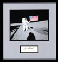 Explorers:Space Exploration, Alan Shepard Signature Matted and Framed with an Apollo 14...