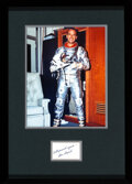 Explorers:Space Exploration, Alan Shepard Vintage Signature Matted and Framed with a Si...