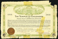 Temple of Childhood at the Panama-Pacific Exposition Certificate 1915 Fine