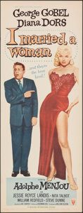 """Movie Posters:Comedy, I Married a Woman (RKO, 1958). Rolled, Very Fine+. Insert (14"""" X 36""""). Comedy.. ..."""