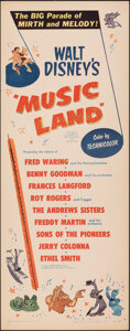 "Movie Posters:Animation, Music Land (RKO, 1955). Rolled, Very Fine-. Insert (14"" X 36""). Animation.. ..."