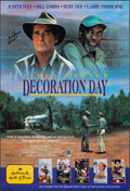 "Movie Posters:Drama, Decoration Day (Hallmark, 1990). Folded, Very Fine-. Autographed Video One Sheet (27"" X 39.5"") SS. Drama.. ..."