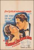 """Movie Posters:Comedy, Heaven Can Wait (20th Century Fox, 1950s). Very Fine on Linen. First Post-War Release Dutch Poster (22"""" X 32""""). Comedy.. ..."""