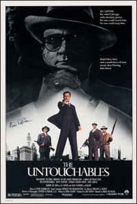"""The Untouchables (Paramount, 1987). Very Fine+ on Linen. Autographed One Sheet (27"""" X 41""""). Crime"""