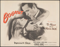 """To Have and Have Not (Warner Bros., 1944). Very Fine. Title Lobby Card (11"""" X 14""""). Film Noir"""
