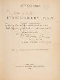 Books:Signed Editions, [Mark Twain]. Samuel Clemens Signed Copy of The Adventures of Huckleberry Finn (Tom Sawyer's Comrade)....
