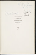 Autographs:U.S. Presidents, John and Jacqueline Kennedy Signed Copy of The White House:...