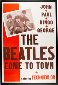 "The Beatles Come to Town (Pathé, 1963). One Sheet (27"" X 42"")"