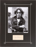 """Music Memorabilia:Autographs and Signed Items, The Beatles/John Lennon Autographed 5"""" x 6"""" Paper in Mat with Classic Image of John. ..."""