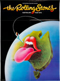 Music Memorabilia:Posters, The Rolling Stones 1973 Australian Tour Poster, Program and Ticket (AOR-4.261)....