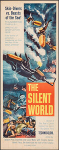 """Movie Posters:Documentary, The Silent World (Columbia, 1956). Folded, Fine/Very Fine. Insert (14"""" X 36""""). Documentary.. ..."""