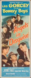 "Movie Posters:Comedy, Angels in Disguise (Monogram, 1949). Folded, Fine+. Insert (14"" X 36""). Comedy.. ..."