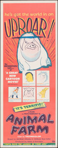"""Movie Posters:Animation, Animal Farm (DCA, 1955). Rolled, Very Fine. Insert (14"""" X 36""""). Animation.. ..."""