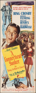 "Movie Posters:Comedy, A Connecticut Yankee in King Arthur's Court (Paramount, 1949). Folded, Fine+. Insert (14"" X 36""). Comedy.. ..."
