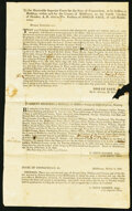 Josiah Sage Signed Document Middletown, CT Not Graded