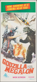 "Movie Posters:Science Fiction, Godzilla vs. Megalon (Filmways, 1973). Folded, Very Fine+. Australian Daybill (13.5"" X 29.75""). Science Fiction.. ..."