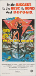 "Movie Posters:James Bond, The Spy Who Loved Me (United Artists, 1977). Folded, Very Fine+. Australian Daybill (13"" X 27.75"") Bob Peak Artwork. James B..."