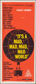 """Movie Posters:Comedy, It's a Mad, Mad, Mad, Mad World (United Artists, 1964). Folded, Very Fine. Australian Daybill (13.5"""" X 30"""") Saul Bass Artwor..."""