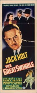"""Movie Posters:Crime, The Great Swindle (Columbia, 1941). Folded, Fine/Very Fine. Insert (14"""" X 36""""). Crime.. ..."""