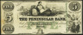Obsoletes By State:Michigan, Detroit, MI- Peninsular Bank $5 18__ Remainder About Uncirculated.. ...