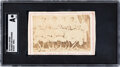 Baseball Cards:Singles (Pre-1930), 1869 Peck & Snyder Cincinnati Red Stockings Trade Card SGC Authentic - Ad Back. ...