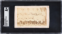 1869 Peck & Snyder Cincinnati Red Stockings Trade Card SGC Authentic - Ad Back