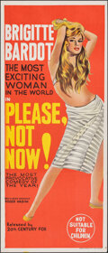 "Movie Posters:Foreign, Please, Not Now! (20th Century Fox, 1963). Folded, Very Fine/Near Mint. Australian Daybill (13"" X 30""). Foreign.. ..."
